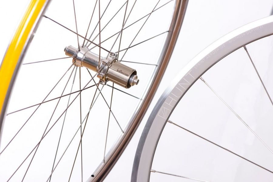 newest collection dc923 641d3 HUNT Sprint Aero Wide Polished Silver Landevei Clincher Hjulsett ...